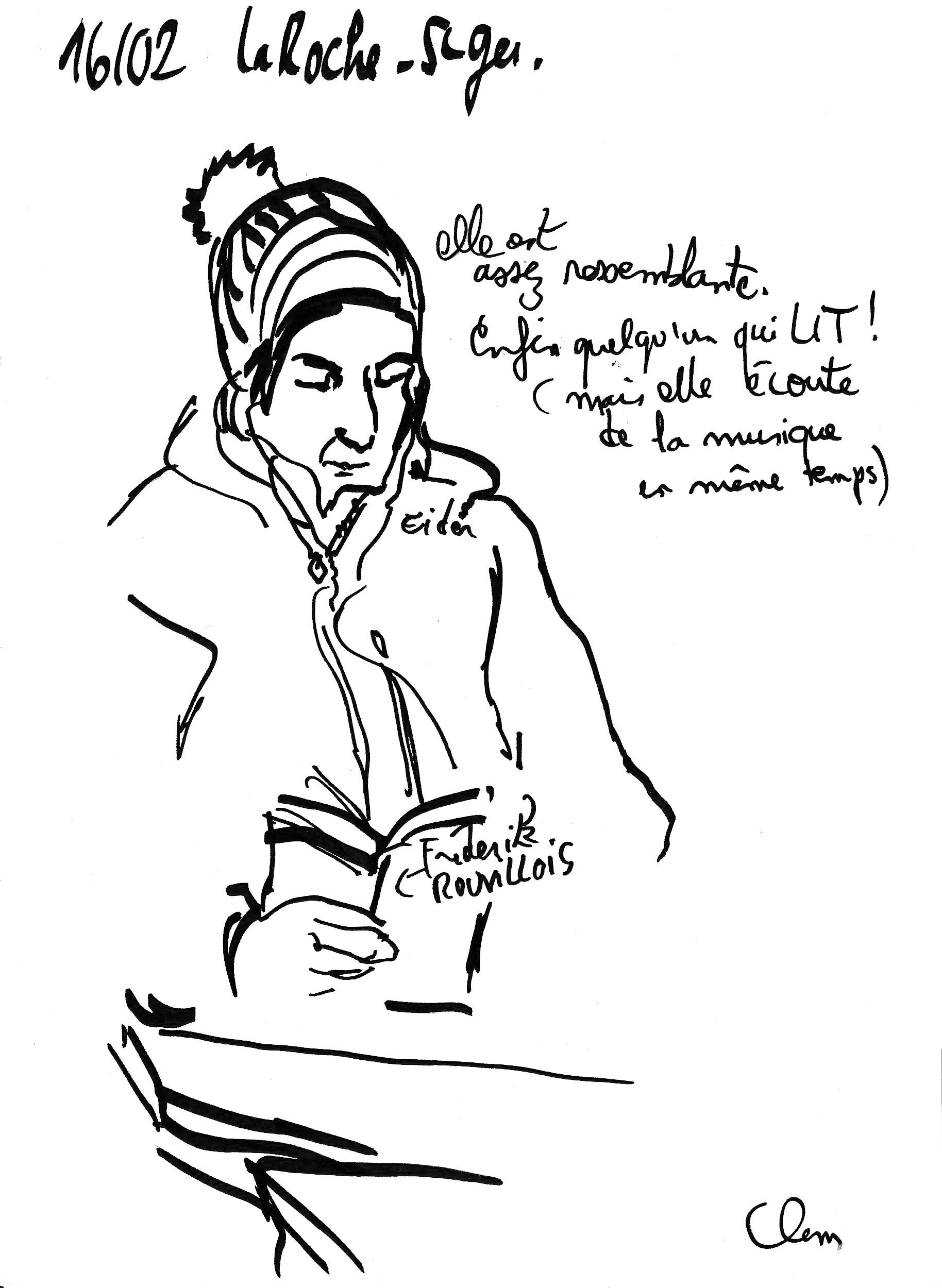 Train St Ger-La Roche femme qui lit